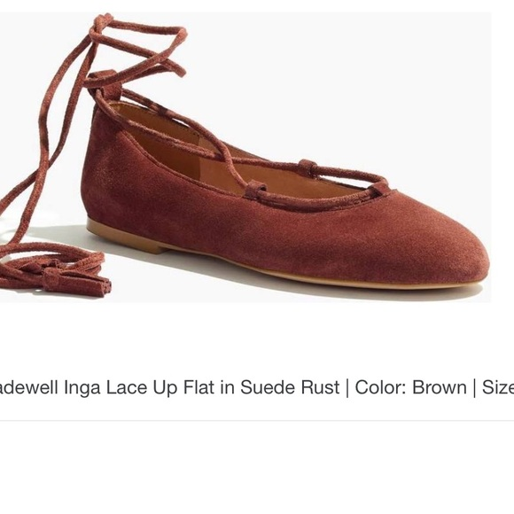 683eb6a25a7d Madewell Shoes - 🌹Madewell Ballet Lace up ankle tie flats🌹